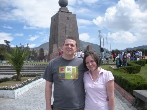 Roger and Rachel at Middle of the World