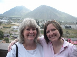 Mom and me at Middle of the World | Top of the monument
